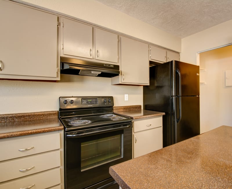 Kitchen with plenty of cabinet space at Mesa Del Oso in Albuquerque, New Mexico