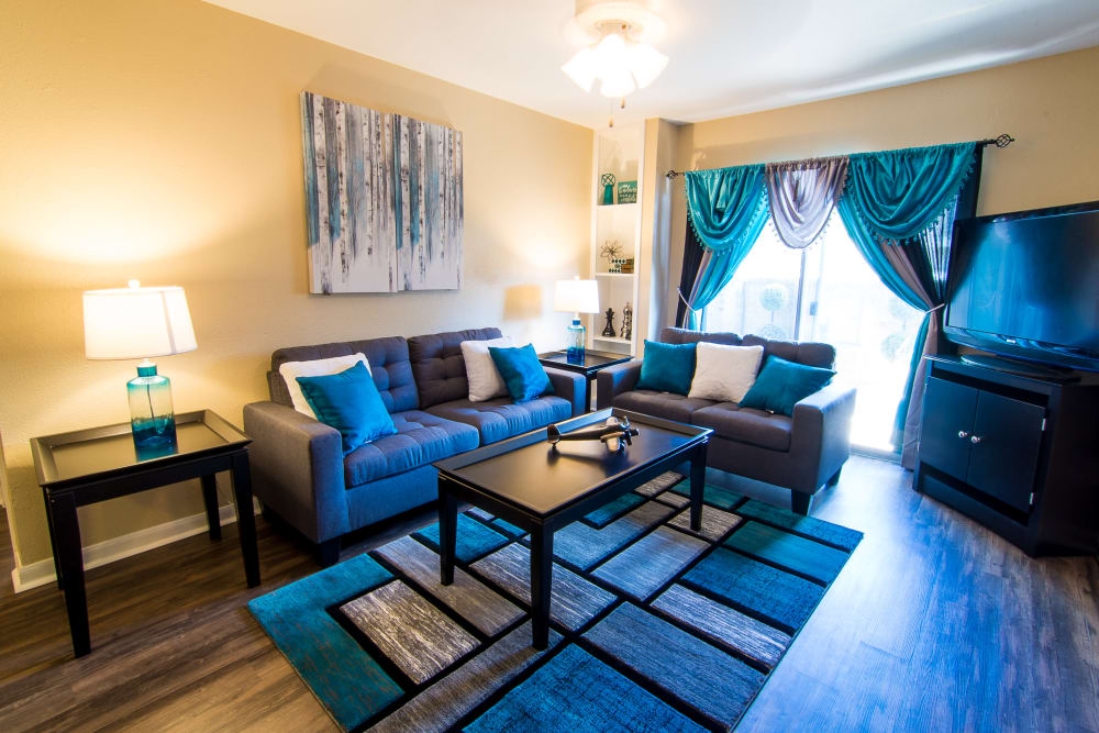 Living room at Parkside Apartments