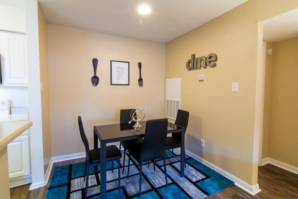 Beautiful dining room at Parkside Apartments in Humble, Texas