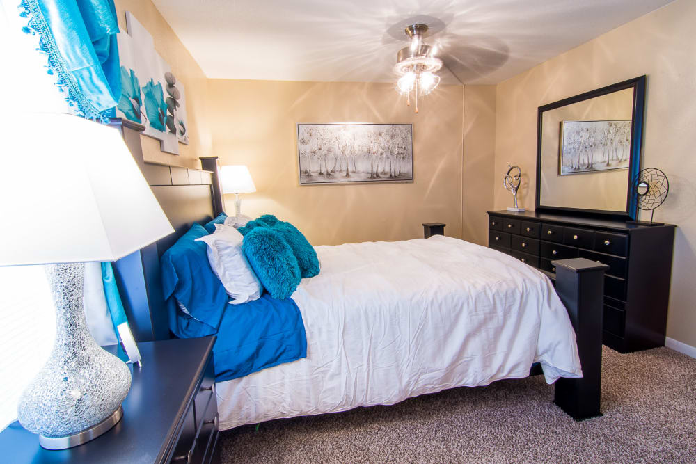 Enjoy a unique bedroom at Parkside Apartments
