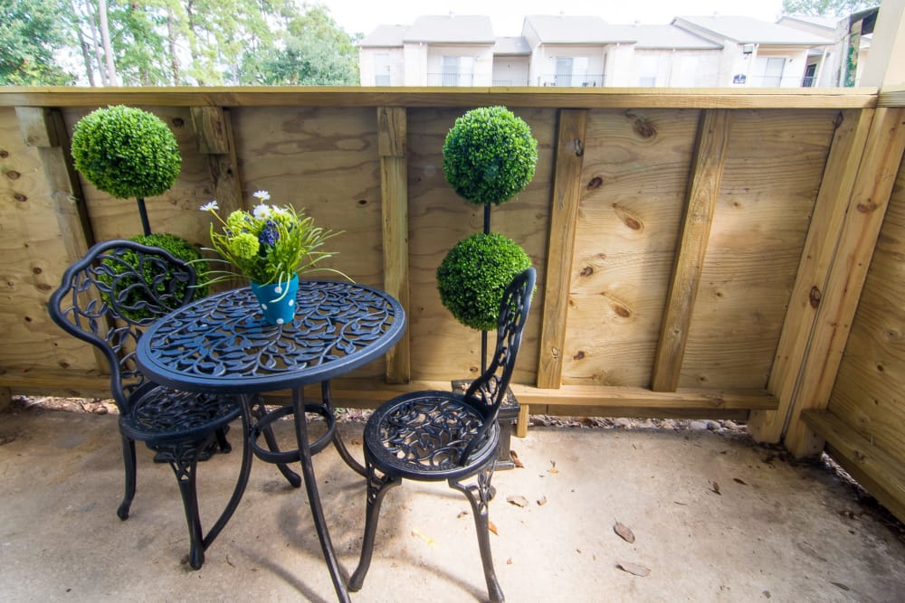 Patio at Parkside Apartments