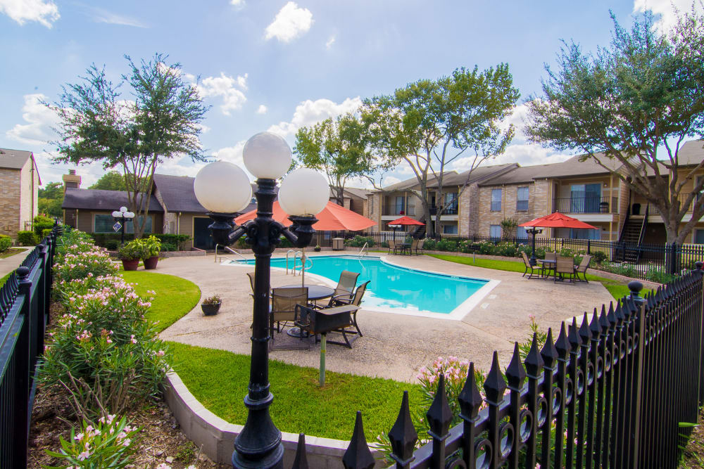 Our apartments in Humble, Texas showcase a beautiful swimming pool