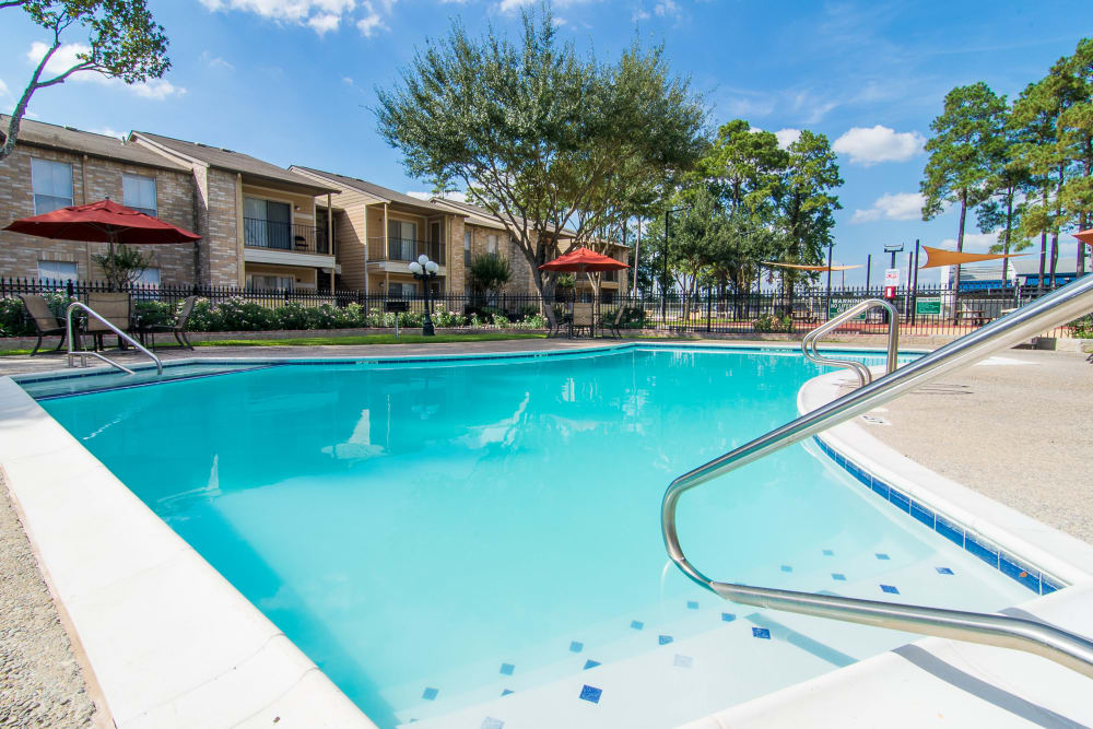 Parkside Apartments offers a beautiful swimming pool in Humble, Texas
