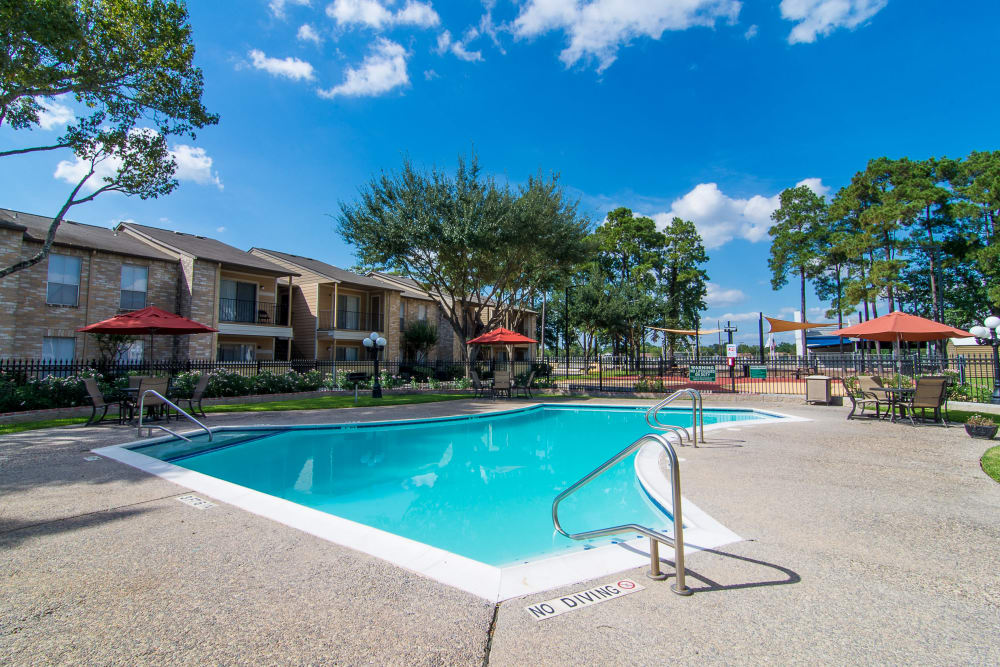 Enjoy apartments with a spacious swimming pool at Parkside Apartments