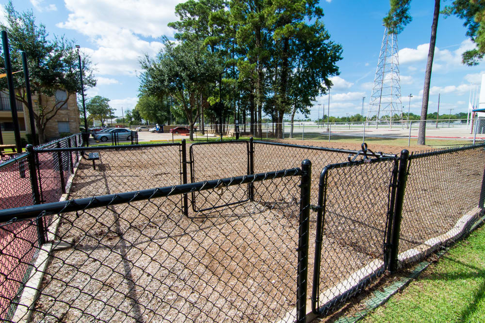 Pet park at Parkside Apartments
