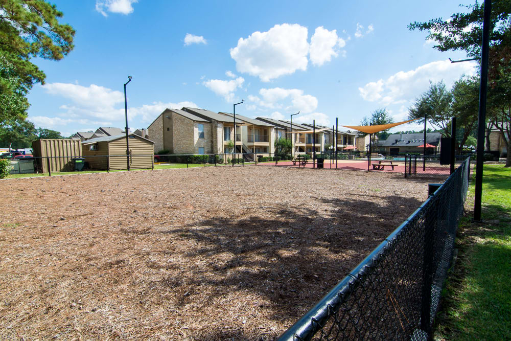 Renovated outdoor at Parkside Apartments in Humble, Texas