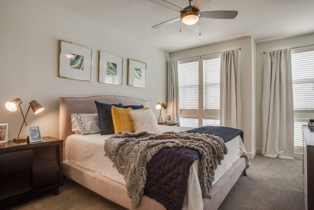 Bedroom layout at The Atwood at Ellison in Dallas, Texas