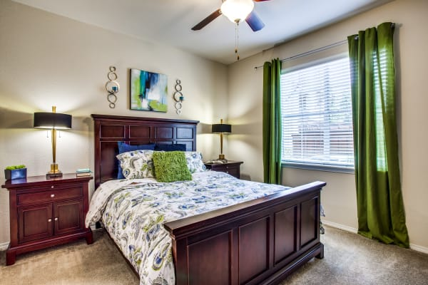 Bedroom at Arioso Apartments & Townhomes in Grand Prairie, TX