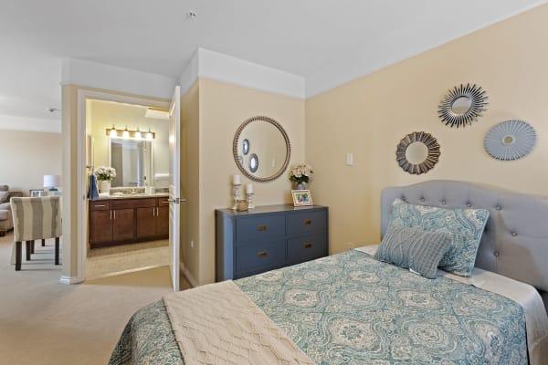 Bedroom at Waltonwood Royal Oak in Royal Oak, MI