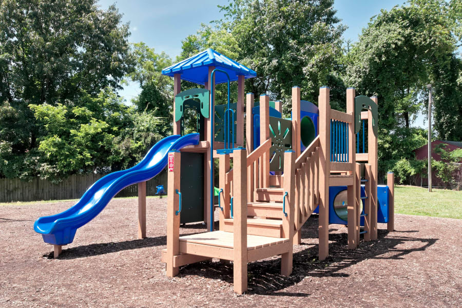 New onsite children's playground at North Woods in Charlottesville, Virginia