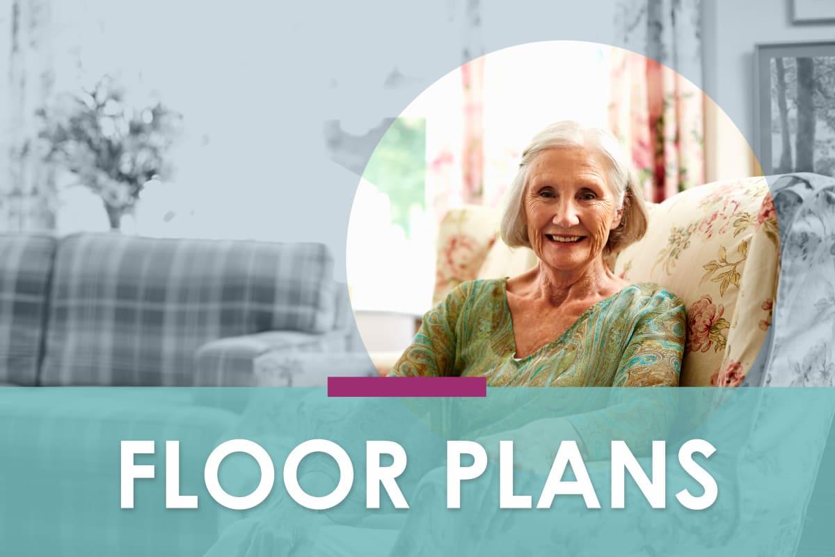 Floor plans at Kenmore Senior Living in Kenmore, Washington