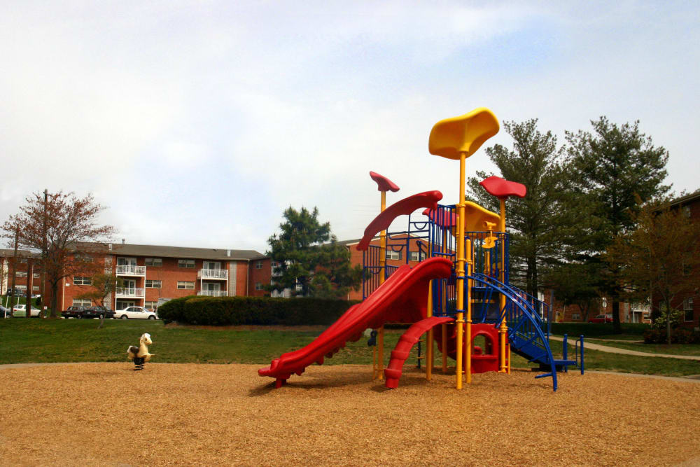 Tons of fun at the resident playground at Westgate Apartments & Townhomes