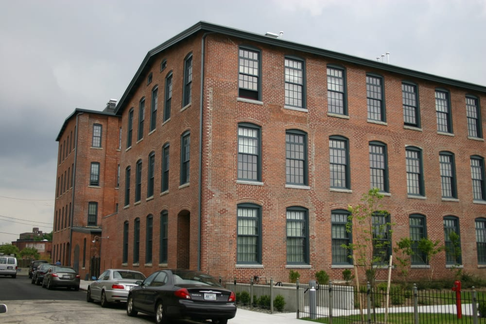 Exterior of Westfield Lofts in Providence, Rhode Island