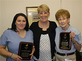 Caregivers receiving their award at Chestnut Knoll at Home in Gilbertsville, Pennsylvania