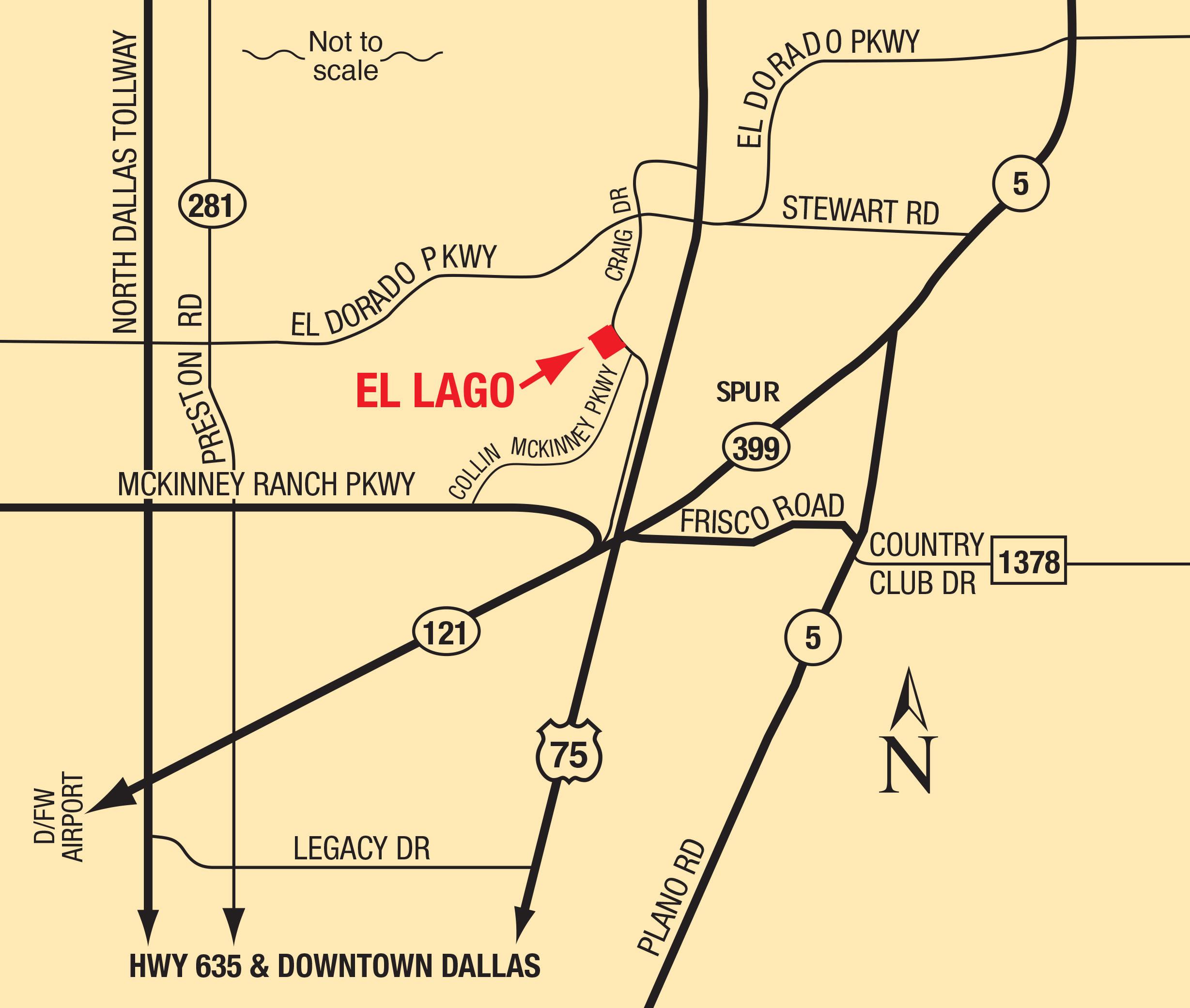 Map of El Lago Apartments