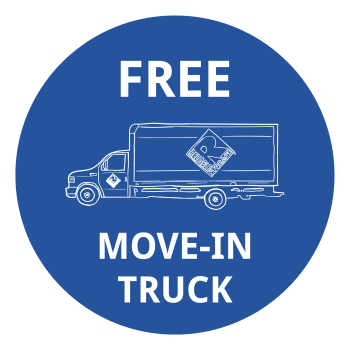 Free move-in truck at Reliable Storage in Poulsbo, Washington