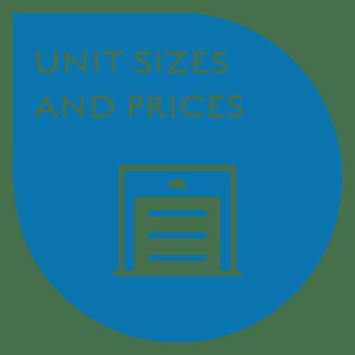 21st Century Storage in Philadelphia, Pennsylvania, unit sizes and prices callout