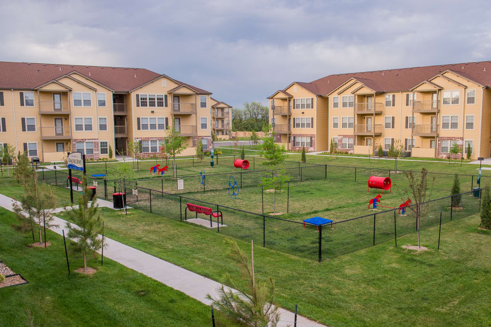 Dog park at Watercress Apartments in Maize, Kansas