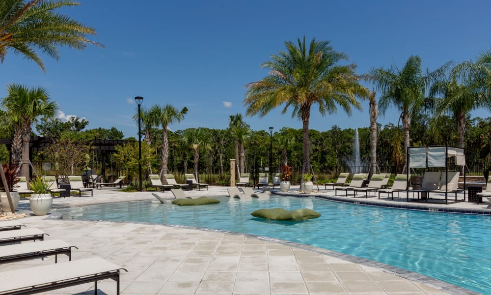 Pool at Integra Sunrise Parc Apartments in Kissimmee, Florida