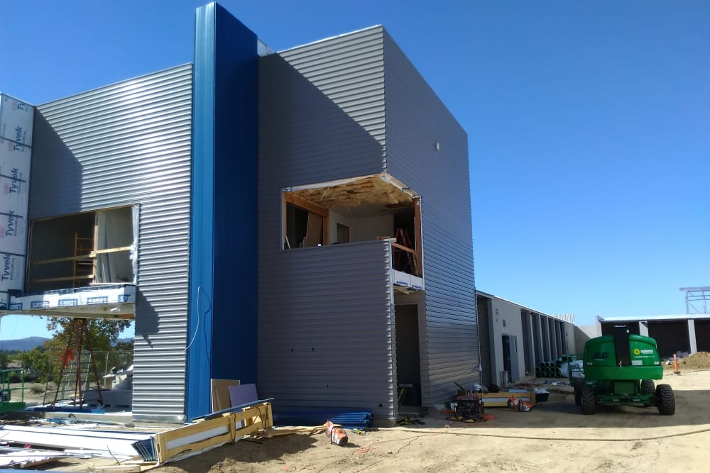 The facility office at Silverhawk Self Storage is taking shape!