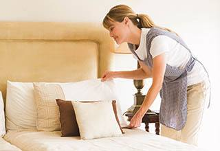 Senior living housekeeping and linen services at Discovery Commons At College Park in Indianapolis, Indiana