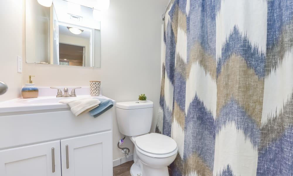 Bathroom at Strafford Station Apartments in Wayne, Pennsylvania