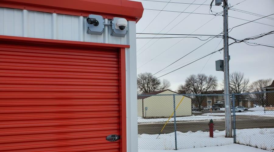 Storage units with security cameras at KO Storage of Austin in Austin, Minnesota
