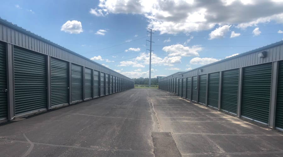 Exterior of outdoor units at KO Storage of Clearwater in Clearwater, Minnesota