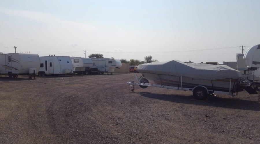 RVs and boats stored at KO Storage of Salina - 9th in Salina, Kansas