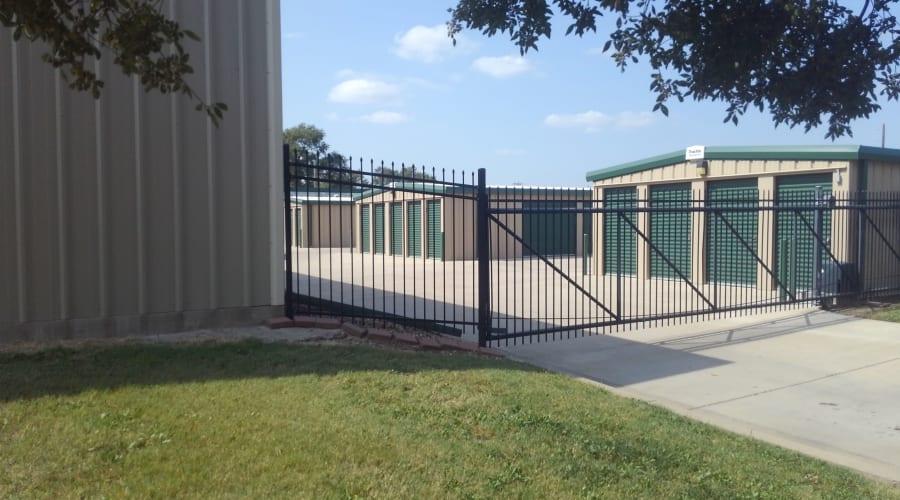 The gated entrance to KO Storage of Salina - Clark in Salina, Kansas