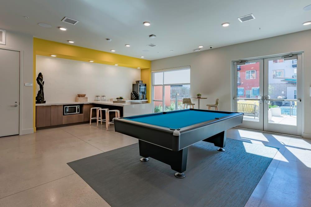 Game room at Encore Tessera in Phoenix, Arizona