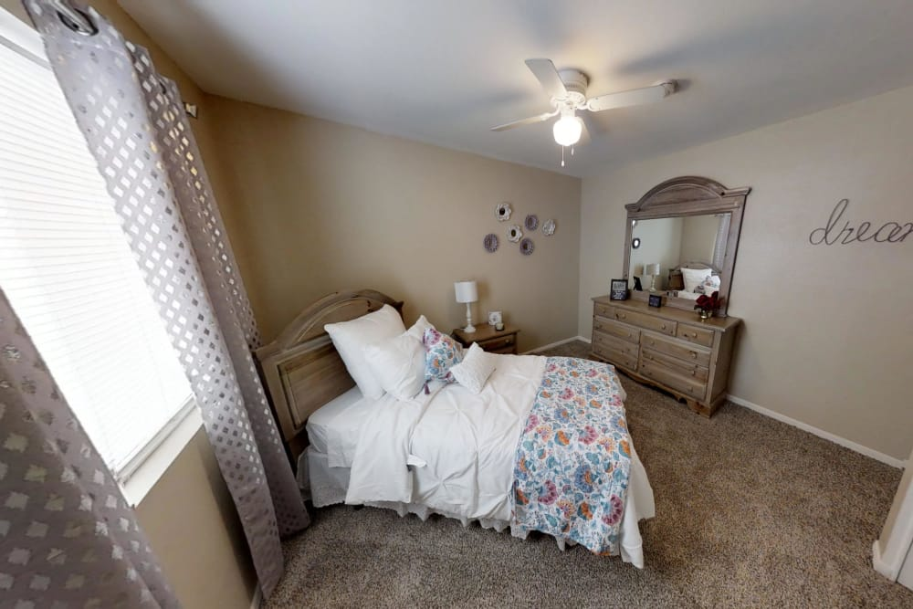 Enjoy apartments with a state-of-the-art bedroom at Waterchase Apartments in Humble, Texas