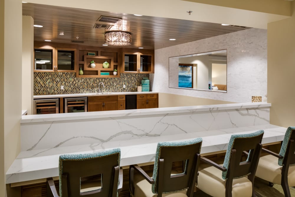 Model kitchen at The Montera in La Mesa, California