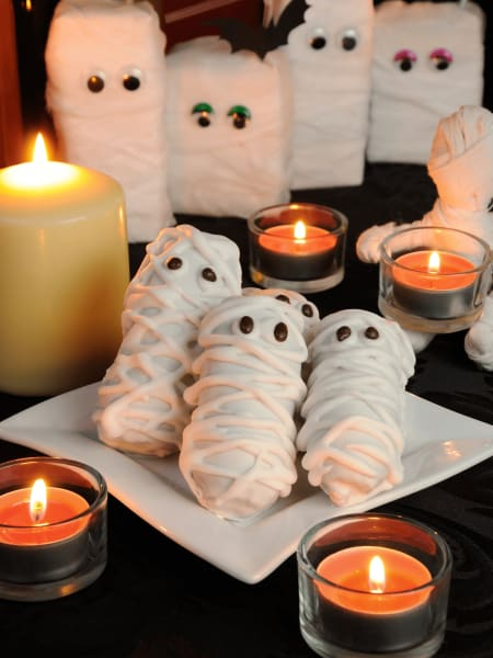 Halloween treats and candles