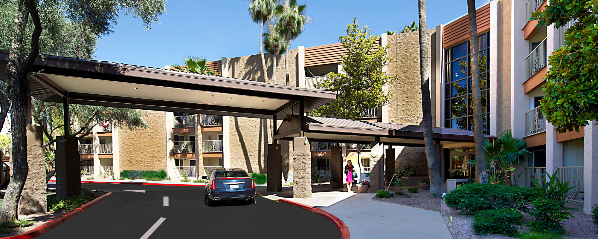 Exterior rendering of Bella Vista Senior Living in Mesa, Arizona