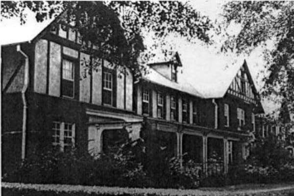 Historic building near Porterdale Mill Lofts in Porterdale, Georgia