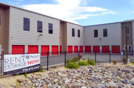 Exterior units at StorQuest Self Storage in Reno