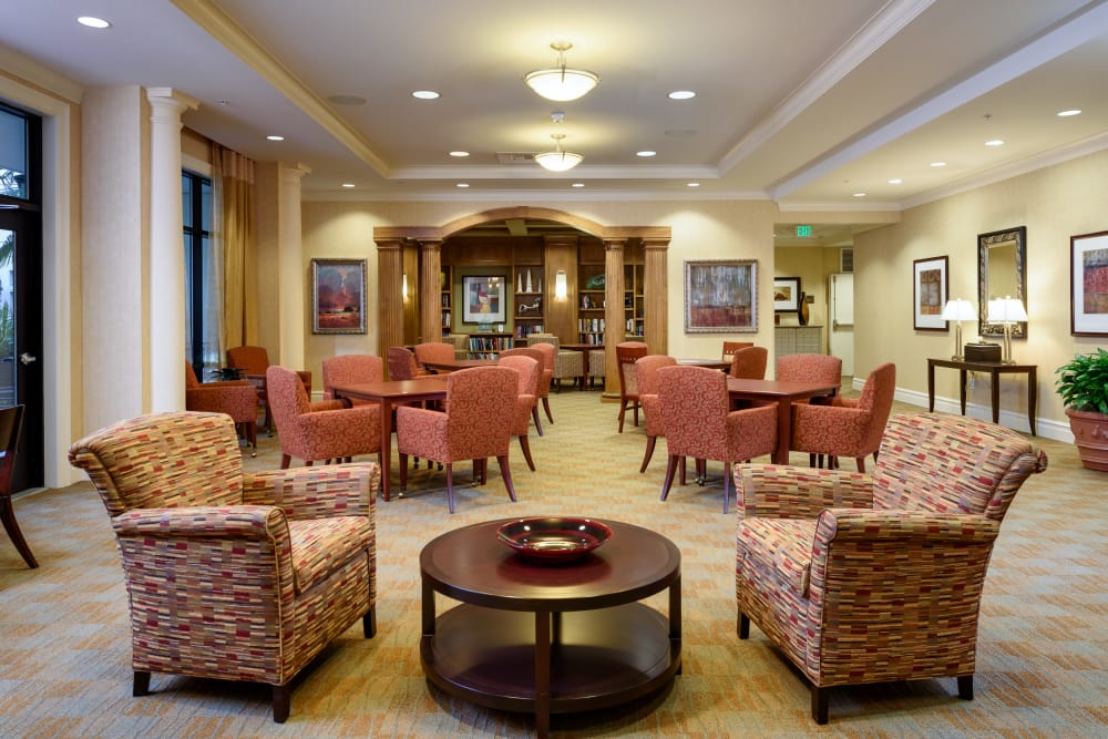 Common hall at The Bellettini in Bellevue, Washington