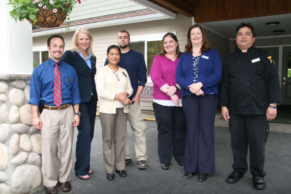 The staff at Peters Creek Retirement & Assisted Living in Redmond, Washington