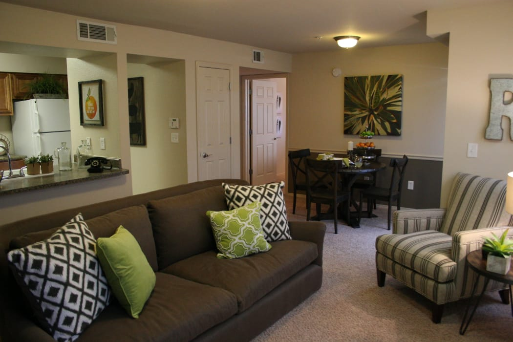 Wonderful living room at Remington Apartments in Amarillo, Texas