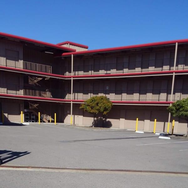 Exterior storage units at StorQuest Self Storage in San Rafael, California