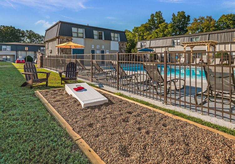 Residents can enjoy the pool at Northshore Flats in Chattanooga, Tennessee.