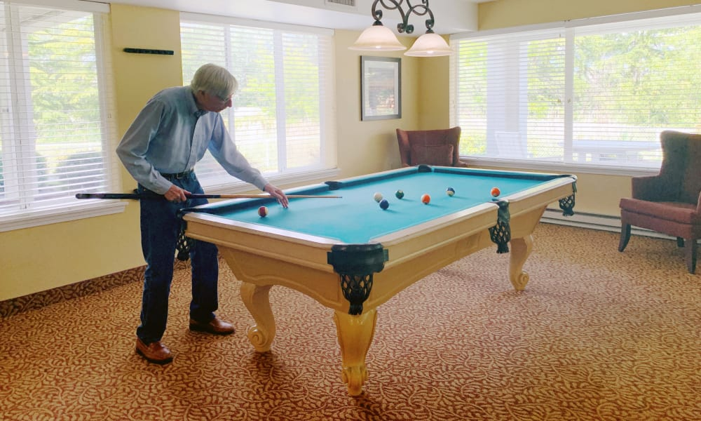 Pool Table at  Maple Ridge Senior Living