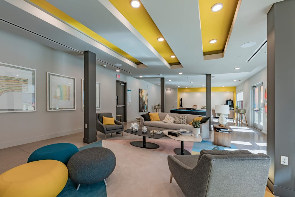 Luxury lounge at The Tessera in Phoenix, Arizona