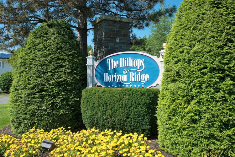 Signage at Horizon Ridge Apartments in East Greenbush