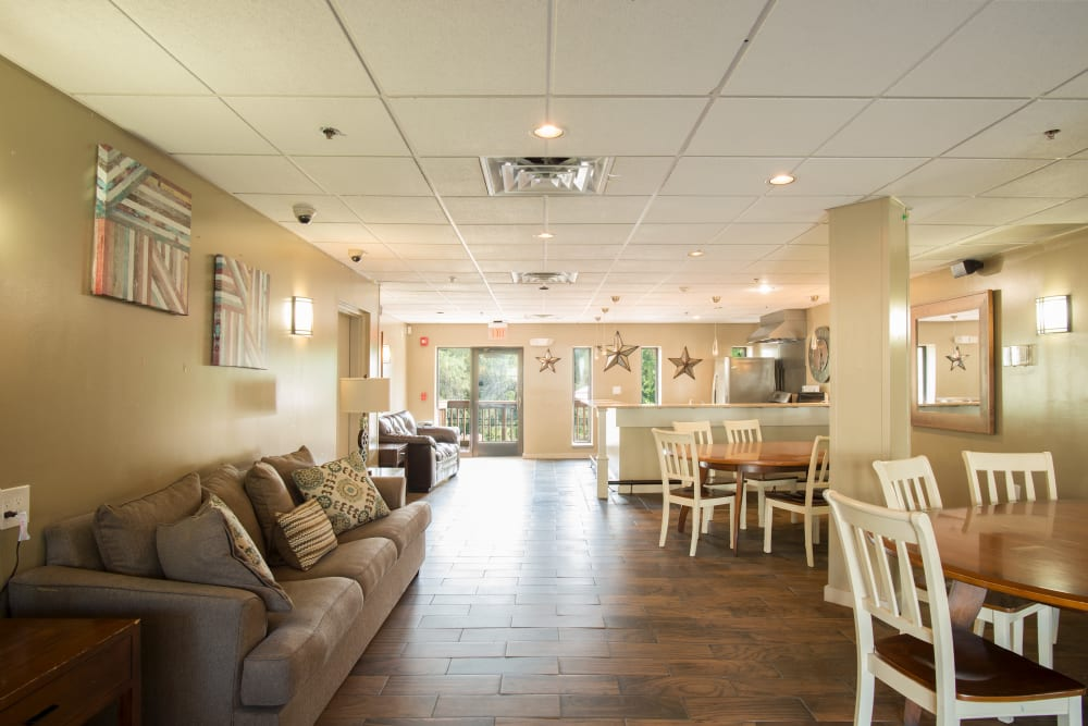 The perfect party room available for rent to residents at Chelsea Ridge Apartments in Wappingers Falls, NY