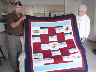 Resident Receives Military Quilt Honor at Senior Commons at Powder Mill in York, Pennsylvania
