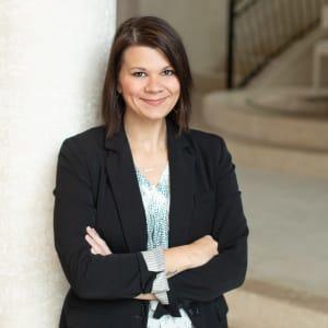 Team member Amanda Eckhardt at CREA Management in Austin, Texas