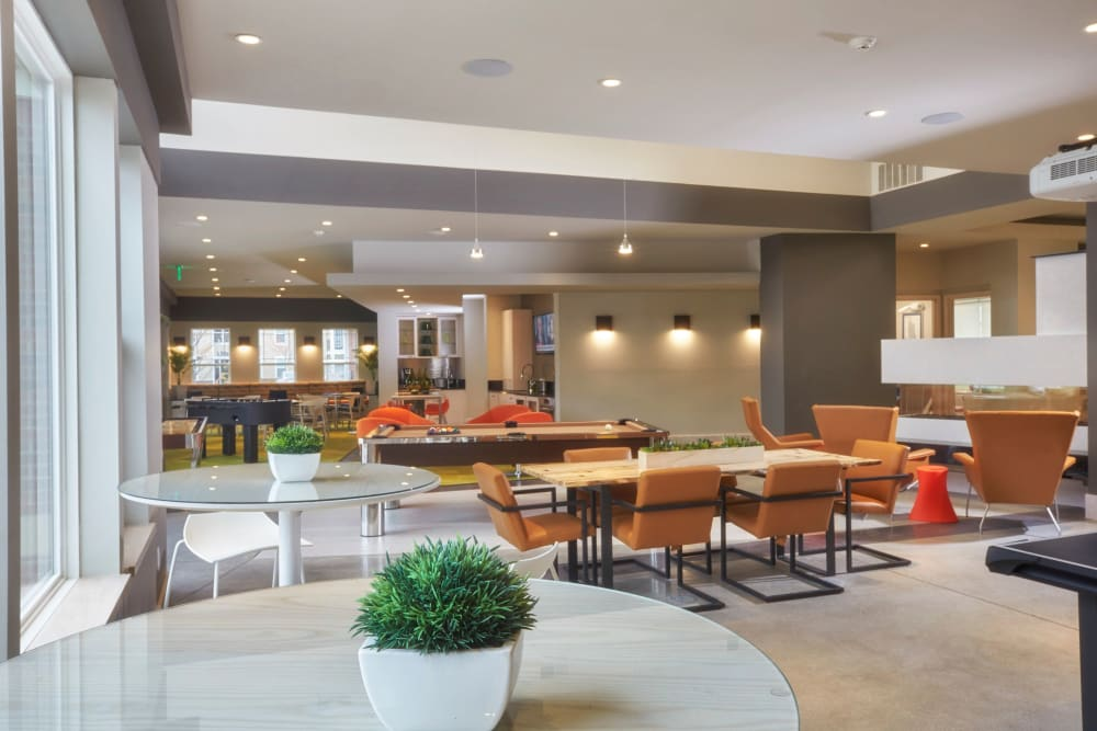 Clubhouse interior at Uptown in Canton in Canton, Michigan