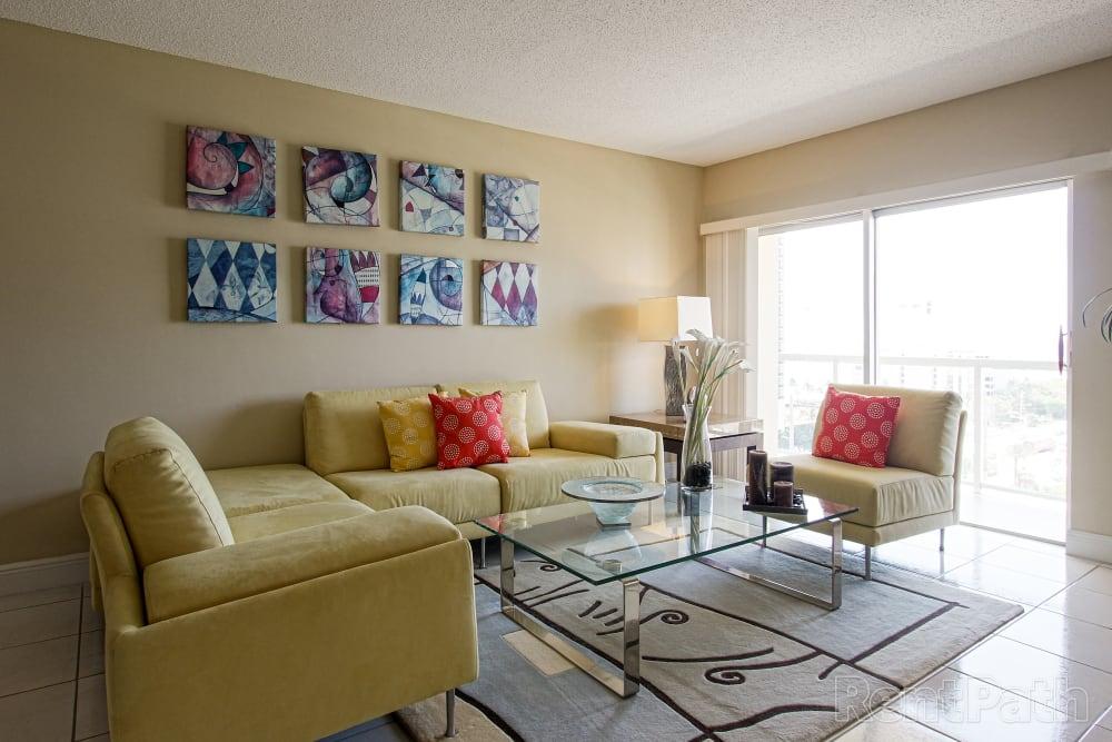 Living Area at Marina Del Mar